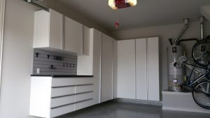 White Garage Cabinets North Liberty